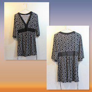 Maternity Geometric Print Tunic SZ Small